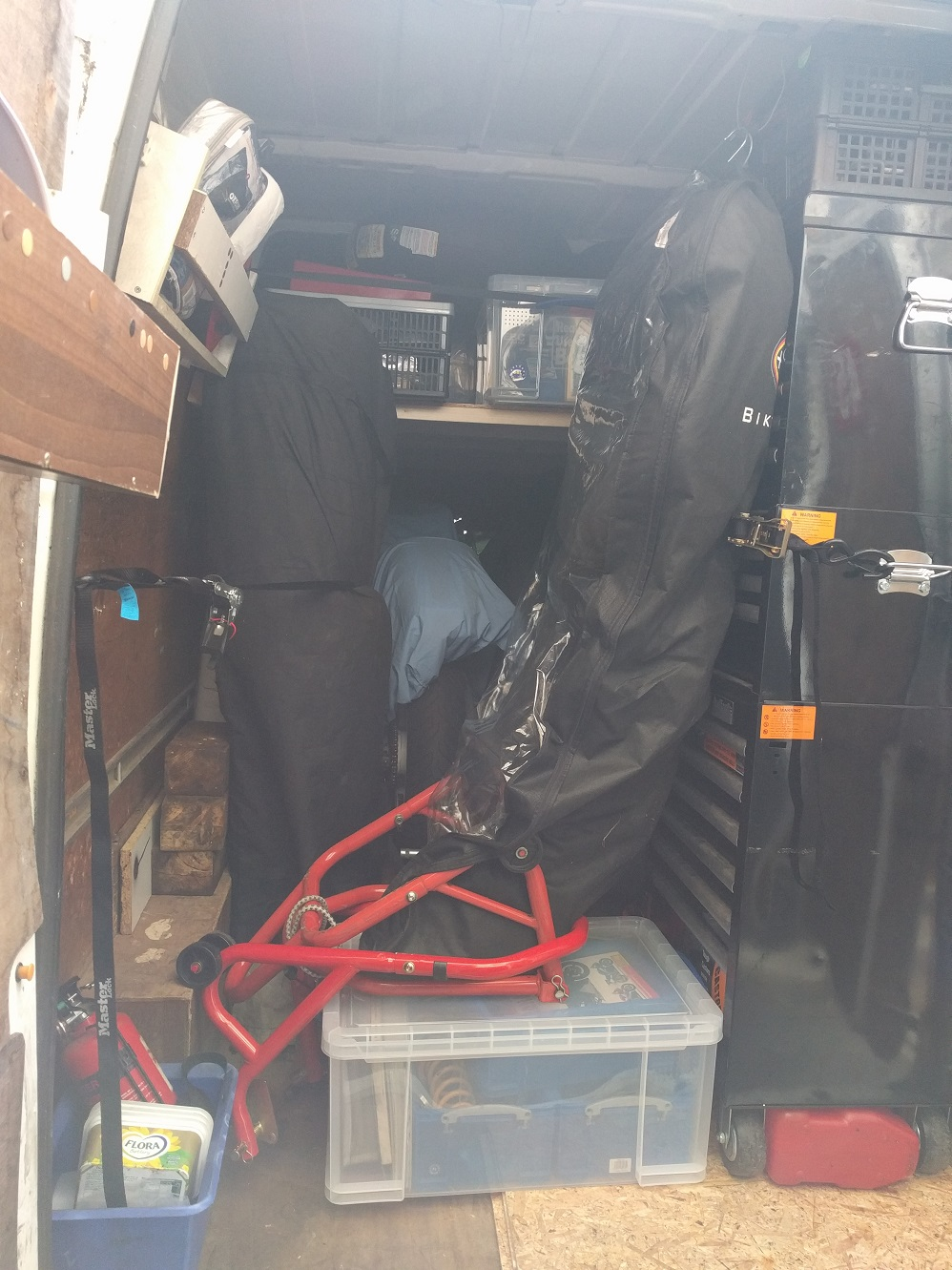 Loaded van, before we added all the camping kit